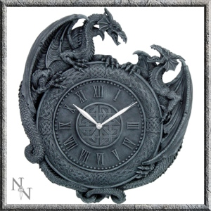 Dragon Duel Wall Clock